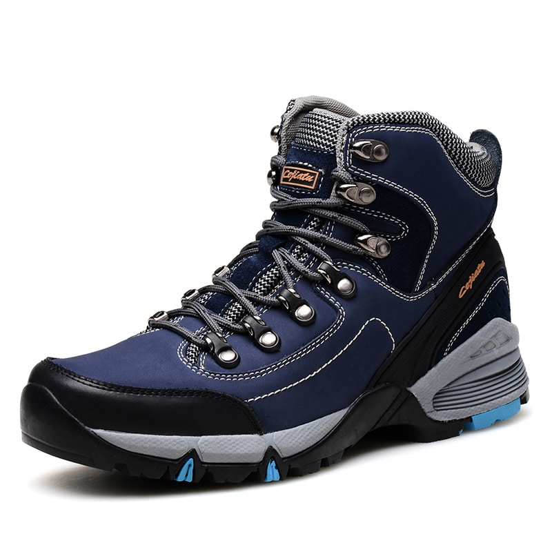 Mens Hiking Boots Waterproof Shoes 2015 Winter Men Leather ...