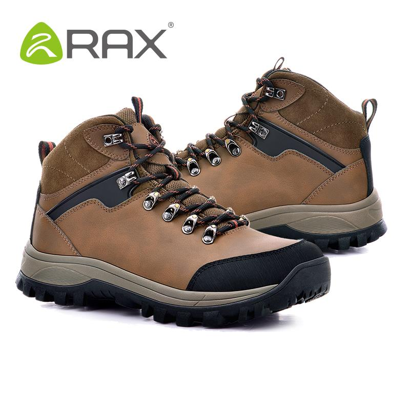 RAX V-TEX Waterproof Hiking Boots Genuine Leather Hiking Shoes Men ...