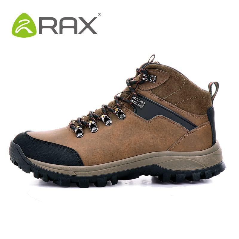 RAX V-TEX Waterproof Hiking Boots Genuine Leather Hiking Shoes Men ...