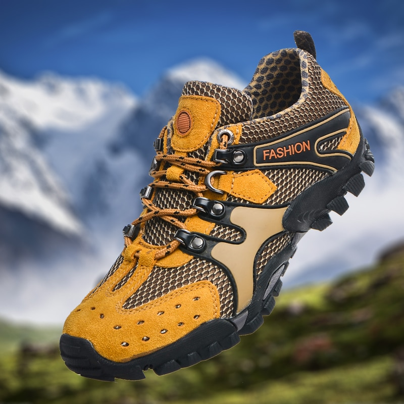 Outdoor Venture Climbing Hiking Shoes Men Breathable