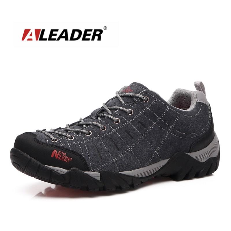 waterproof men women leather hiking shoes low new 2015