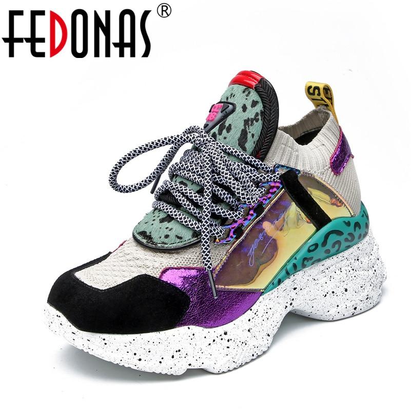 Women flat shoes genuine leather round toe flats platform